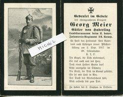 Ardennes.1917. ST.ETIENNE A ARNES. Sterbebild Avis Décès Soldat Allemand - 1914-18