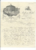 AMIENS BELFORT HÔTEL CARLTON Lettre De 1902 TB 27 X 21 Cm Lion De Belfort 2 Scans - Sport & Turismo