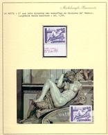 MICHELANGELO  LA NOTTE  + FRANCOBOLLO + FOGLIO COLLEZIONE  1964  FANTASTIC  (NOV190108) - Sculpture