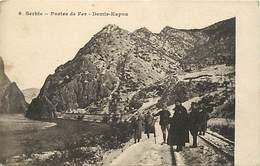 Pays Div-ref W273- Guerre 1914-18- Serbie - Portes De Fer -demir Kapou - Plan Rails Ligne De Chemin De Fer - - Serbia