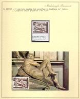 MICHELANGELO  IL GIORNO  + FRANCOBOLLO + FOGLIO COLLEZIONE    FANTASTIC  (NOV190109) - Sculpture
