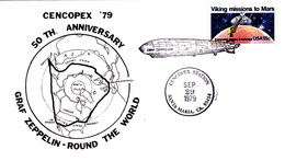 50th. Anniversary Graf Zeppelin - Round The World, Cencopex Station, Santa Maria, CA; 29.9.1979 - Zeppelins