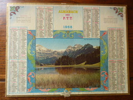 Calendriers ALMANACH Des P.T.T. - 1968 - Eaux Calmes - Calendriers