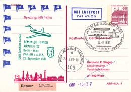Zeppelin,AIRPHILA '81, IAPC-Luftpost Ausstellung; Berlin 519 Flughafen Tegel - Zeppelins