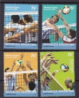 """CAMPEONATO MUNDIAL DE VOLEIBOL MASCULINO """"ARGENTINA 2002"""" GOTTIG JALIL 3236 / 3239 MNH SERIE COMPLETA VOLEY - LILHU - Volleyball"""