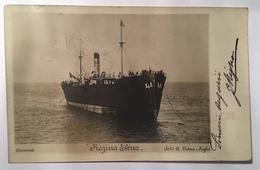 30155 Il Piroscafo Regina Elena Ad Ancona - Dampfer