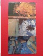 TRINIDAD TOBAGO 3 TEXTEL Cards : Carnaval 2, Pigeon Point, Mathura Earth Station CN Right Of Textel (BA1219.20 Test Tria - Trinidad & Tobago