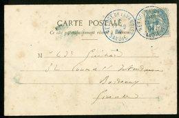 """1904 N°111 Obl. Bleue """"REFUGE DE LA VANOISE SAVOIE 17/9/04"""" Sur CP Du Lac Rond - Marcophilie (Lettres)"""