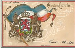 Luxembourg  -  16 Avril 1905  -  Gruss Aus Luxembourg  -  Emile Et Charlotte - Kunstanstalt Stern U.Löb,Frankfurt-London - Luxembourg - Ville