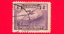 ECUADOR - Usato - 1937 - Aeroplano Su El Altar - 2 - P. Aerea - Ecuador