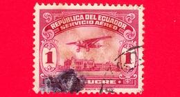 ECUADOR - Usato - 1930 - Aeroplano Sul Lungomare Di Guayaquil - 1 - P. Aerea - Ecuador