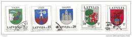 LATVIA COAT OF ARMS USED STAMPS FULL YEAR SET 2004 - Latvia