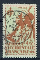 French West Africa (AOF), Senegalese Tirailleur And Mauritanian Horseman, 4f.50, 1945, VFU - A.O.F. (1934-1959)