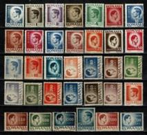 Romana 1945/46, 1947 Yv. 785/818**, 960/70** (45 Val. - 2 Scans)   MNH - 1918-1948 Ferdinand, Carol II. & Mihai I.