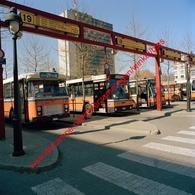 Bussen Franklin Rooseveltplaats In April 1990 - Photo 15x15cm - Rooseveltplaats Antwerpen Van Hool - Automobiles