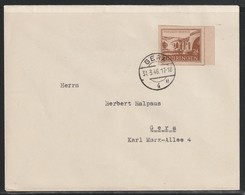Brief Mit MiNr. 115 Gestempelt GERA 4 E 31.3.46 17-18 - Zona Soviética