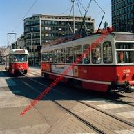 Tram 24 Silsburg - Zuidstation En Tram 11 In April 1990 - Photo 15x15cm - Franklin Rooseveltplaats Antwerpen - Automobiles