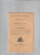 Livret Instruction Mobilisation Du 6 Janvier 1914 - 1914-18