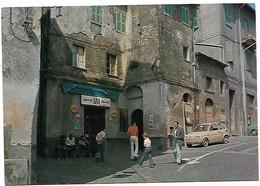 Onano (Viterbo). Piazza Umberto I° E Bar Ferri - Bottoni Birra Wuhrer. - Viterbo