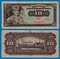 Jugoslawien - Yugoslavia 10 Dinara Banknote 1965 F (4) Pick 78  (18307 - Joegoslavië