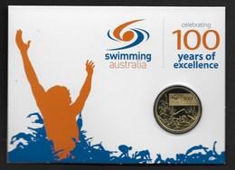 AUSTRALIE MONNAIE 1 DOLLAR 2009 100 ANS NATATION ELISABETH II DANS SON PRESENTOIR PARFAIT ETAT - Monnaie Décimale (1966-...)
