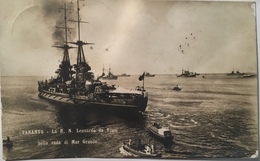 30160 Taranto - La R . N . Leonardo Da Vinci Nella Rada Di Mar Grande - Guerra
