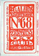 1 Altes Gasthausetikett, Galerie Club Ringstrasse No.68, Informations-Zentrum Junger Künstler, 2300 Kiel #206 - Boites D'allumettes - Etiquettes