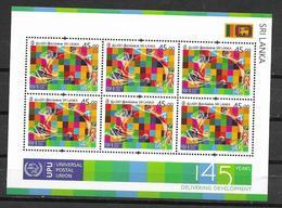 SRI LANKA, 2019, MNH, UPU, SHEETLET OF 6v - UPU (Union Postale Universelle)