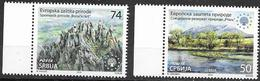 SERBIA, 2019, MNH,EUROPEAN NATURE PROTECTION, PARKS, MOUNTAINS, 2v - Protezione Dell'Ambiente & Clima