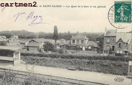COTEAUX DE SAINT-CLOUD QUAIS DE LA GARE ET VUE GENERALE 92 - Saint Cloud