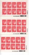 Nouvelle-Calédonie > LOT DES 3 Carnet N° C 1100 DATE 19.05.10//C1100 2 DATE 07.02.11//- 3, Daté Du 09.01.2012, Neuf XX - Boekjes