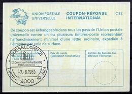 4000 DÜSSELDORF 1983 12. DEUTSCHER KRANKENHAUSTAG / INTERHOSPITAL International Reply Coupon ReponseAntwortschein IAS - Geneeskunde