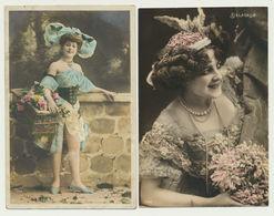Lot 2 Cartes - Artistes DELASALLE (photog.STEBBING) Et Blondinette (Photog.Waléry) - Artistes