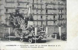 Luxembourg -  Calvalcade -( Char De La Maison Mercier Et Co )  ( Collection Du Champagne Mercier )  2 Scans - Luxemburg - Town