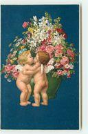 N°13949 - M Flatscher - Anges S'embrassant - Angeli