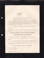SCHILDE BERCHEM Albert VANDERLINDEN 1871-1912 Famille FIEVE DONNET GEVERS - Obituary Notices