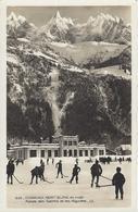 74 CHAMONIX MONT BLANC SPORTS HIVER  PALAIS DES SPORTS HOCKEYEURS  SUR LA  PATINOIRE EXTERIEURE - Chamonix-Mont-Blanc