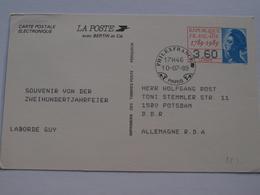 Entier Postal  Philexfrance 1989 Tarif Pour La RDA ( 3,60F) - Entiers Postaux