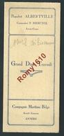 Menu Paquebot Albertville. Grand Dîner Travesti Compagnie Maritime Belge S.A. Anvers 1939. 3 Scans - Menus