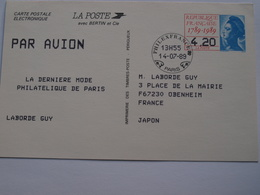 Entier Postal  Philexfrance 1989 Tarif Pour Le Japon ( 4,20F) - Entiers Postaux