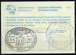 6800 MANNHEIM 1982 LUFTSCHIFFERTAGE BALLON ZEPPELIN International Reply Coupon ReponseAntwortschein IAS IRCDeutschl - Zeppelins