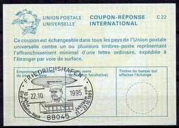 FRIEDRICHSHAFEN 10 JAHRE GRAF ZEPPELIN HAUS 1995 International Reply Coupon ReponseAntwortschein IAS IRCDeutschland - Zeppelins