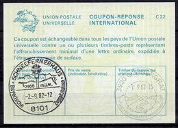 8101 SCHNEEFERNERHAUS ZUGSPITZBAHNEN 1982 International Reply Coupon ReponseAntwortschein IAS IRCDeutschland Für Die - Protección Del Medio Ambiente Y Del Clima