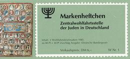 BRD  ZWJ-MH 2a, Mit 5x 1261, Postfrisch **, Privates Markenhefchen Der Zentralwohlfahrtstelle Der Juden 1985 - [7] Repubblica Federale