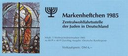 BRD  ZWJ-MH 3a, Mit 5x 1267, Postfrisch **, Privates Markenhefchen Der Zentralwohlfahrtstelle Der Juden 1985 Weihnachten - [7] Repubblica Federale