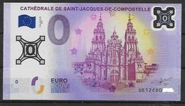 BILLET 0 EURO EN POLYMERE SAINT JACQUES DE COMPOSTELLE 2017 - EURO