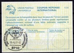 8710 KITZINGEN 1977 TREFFEN DER ARGE PFADFINDER SCOUTS International Reply Coupon ReponseAntwortschein IAS IRCDeutsc - Pfadfinder-Bewegung
