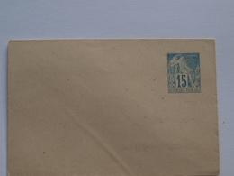 Entier Postal Colonie 15 C Rabat Collé Petite Enveloppe - France (former Colonies & Protectorates)