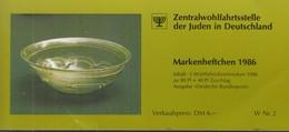 BRD  ZWJ-MH 4a, Mit 5x 1298, Postfrisch **, Privates Markenhefchen Der Zentralwohlfahrtstelle Der Juden 1986 Wohlfahrt - [7] Repubblica Federale