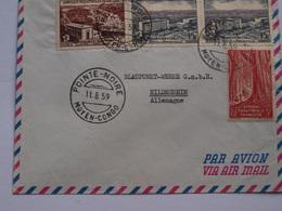 Lettre Pointe Noire Moyen Congo 11 8 1959 - France (former Colonies & Protectorates)